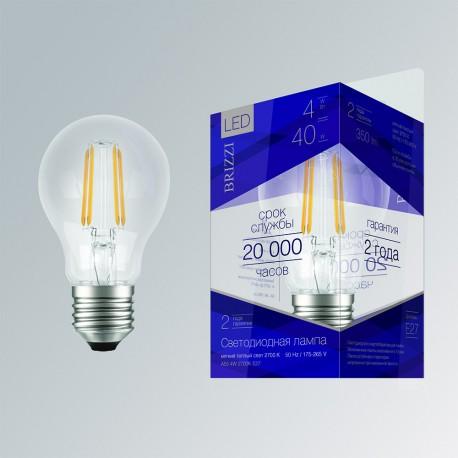 Лампа светодиодная Brizzi A55 4W 2700K E27