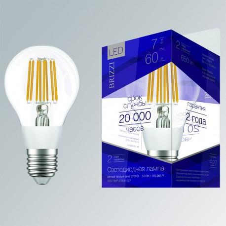 Лампа светодиодная Brizzi A60 7W/P 2700K E27