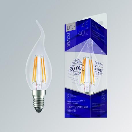 Лампа светодиодная Brizzi B35 4W 2700K E14