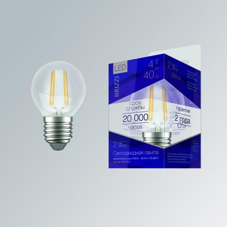 Лампа светодиодная Brizzi G45 4W 2700K E27