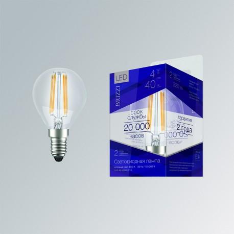 Лампа светодиодная Brizzi G45 4W 4000K E14